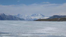 Leh Ladakh road trip - Frozen Pangong lake during winter