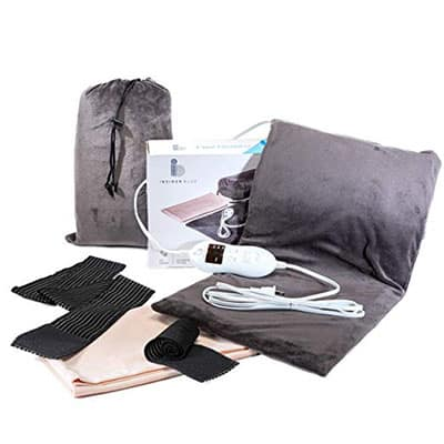 InsiderBlue - Electric Heating Pad for Cramps, Sore Feet, Legs & Knees