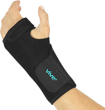 Vive Wrist Brace- Carpal Tunnel Hand Compression Support Wrap