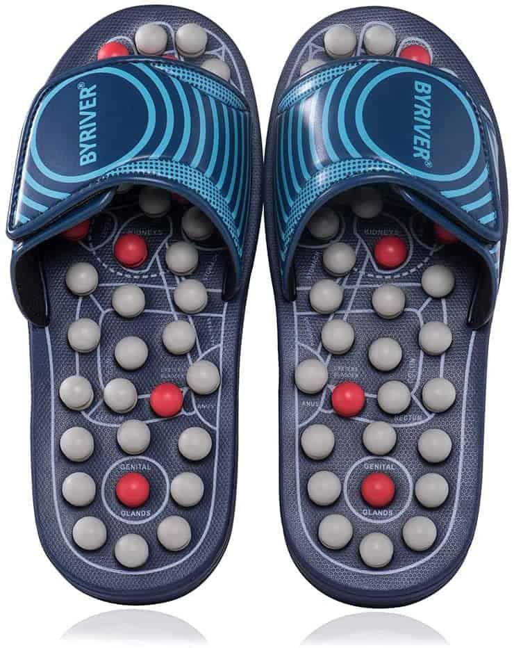 BYRIVER Acupressure Plantar Fasciitis Massage Slippers