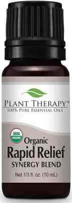 Plant Therapy Rapid Relief Organic Synergy Essential Oil