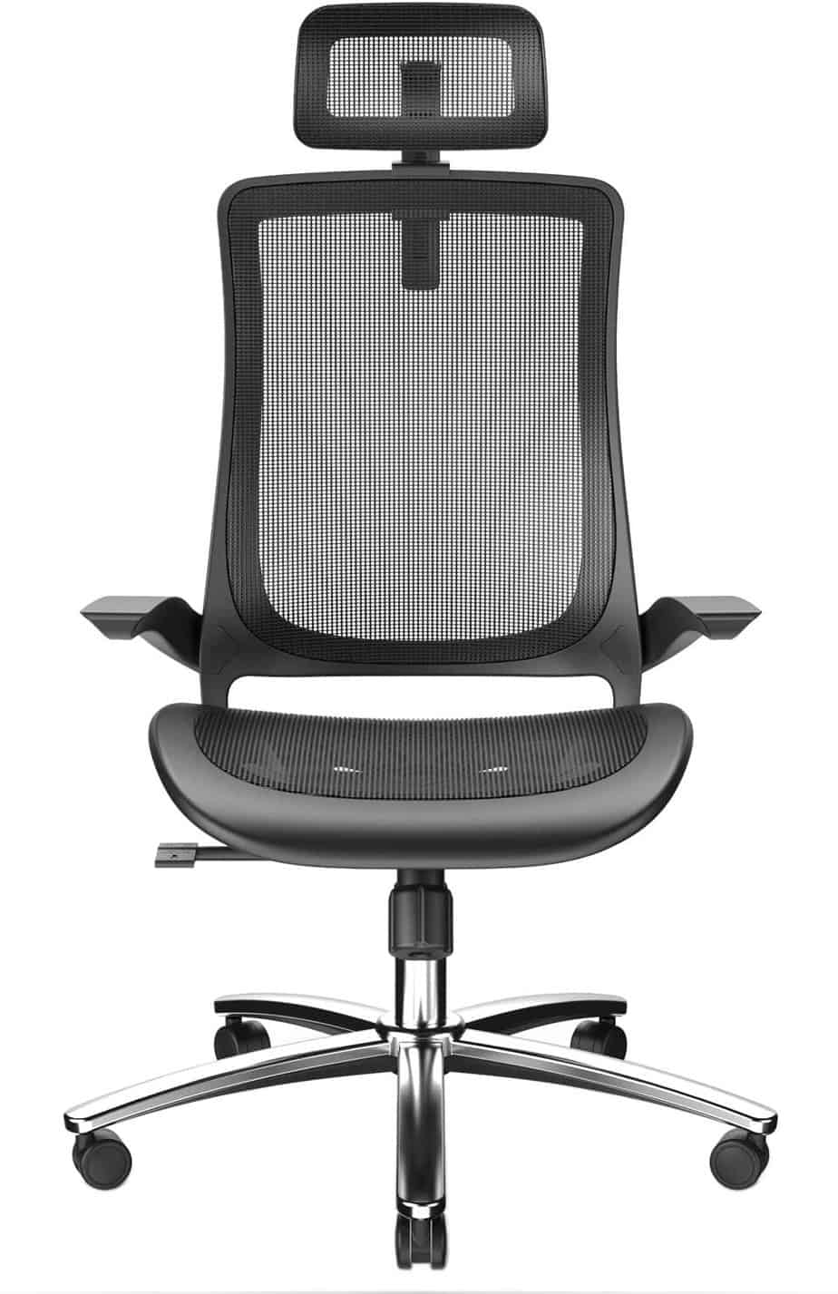 Bilko Office chair with breathable mesh seat and firm armrests