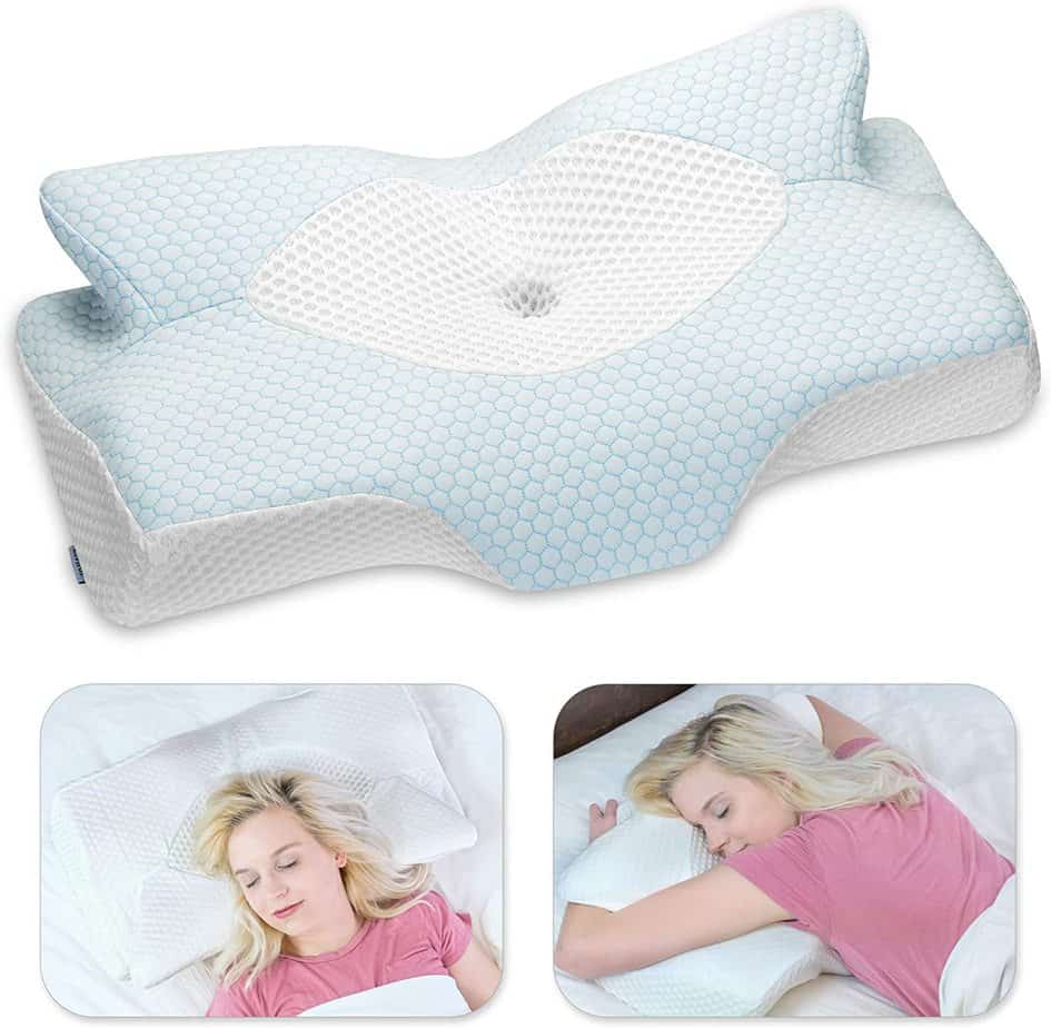 Elviros Cervical Memory Foam Therapeutic Pillow
