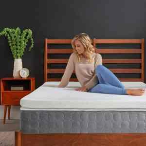 Tempurpedic supreme 3-inch medium-firm mattress topper, white