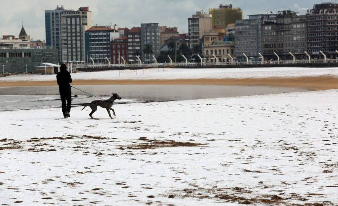 Nieve en Gijón