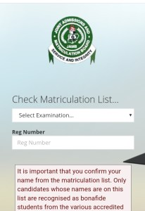 nysc Matriculation list