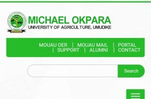 Michael okpara university of agriculture umudike