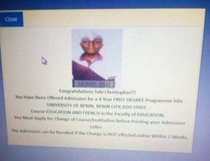 jamb says change course or institution