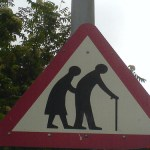 Ageism -- A caution sign -- photo courtesy of rileyroxx