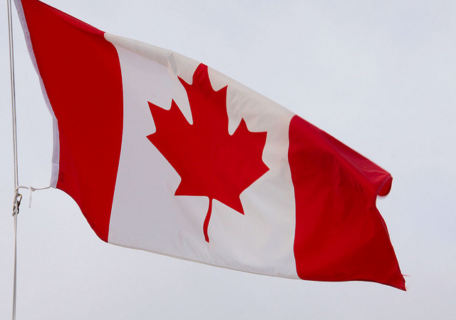 Celebrate Canada --Canadian Flag -- photo courtesy of Waferboard