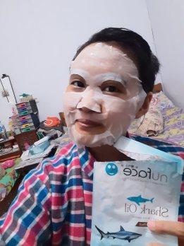 masker nuface shark oil