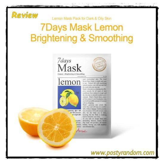 masker ariul 7 days lemon