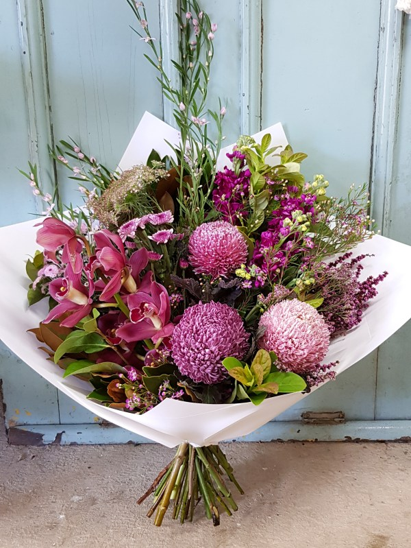 Pink textural flowers Posy & Twine