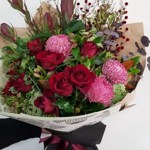 Romantic red flowers Posy & Twine Florist