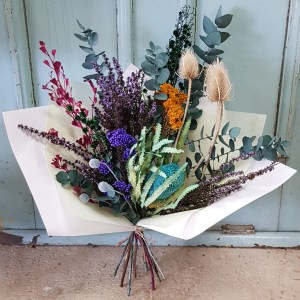 Blue dried flowers Posy & Twine Florist