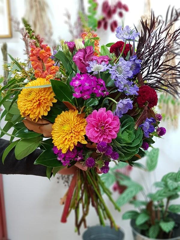 Bright seasonal bouquet Posy & Twine