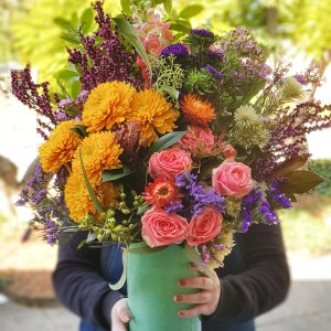 Over the top bright flower vase Posy & Twine