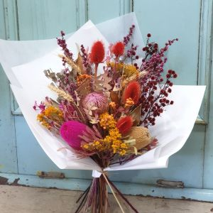 Bright dried flowers Posy & Twine Florist