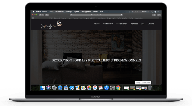 Création de site vitrine pour Infinity Déco par Pot Global Numérique