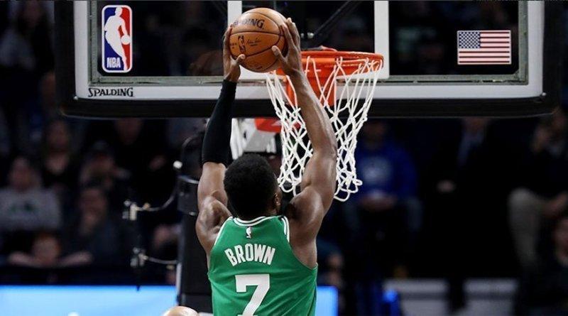 Boston Celtics Jaylen Brown vs Minnesota Timberwolves