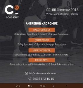 Cedi Osman Basketbol Kampı Antrenör Listesi
