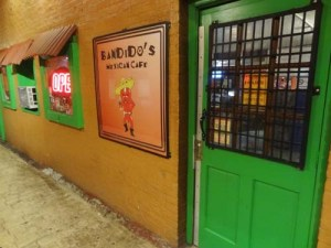 Bandido's door copy