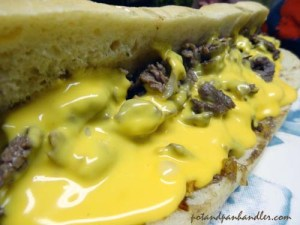 Philly Cheesesteak with Cheez Whiz