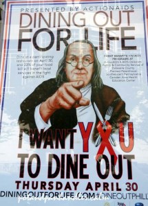 Dine Out For Life by ACTION AIDS poster, 2015 Philadelphia, PA