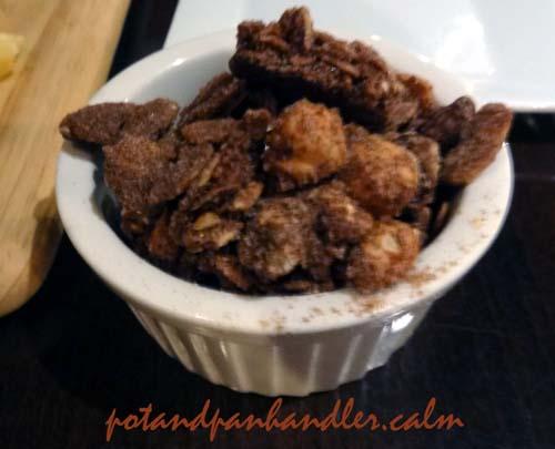 Spiced, candied almonds at Philadelphia, Pennsylvania's Tavern on Camac