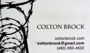 Artist Colton Brock, Phoenix, Arizona