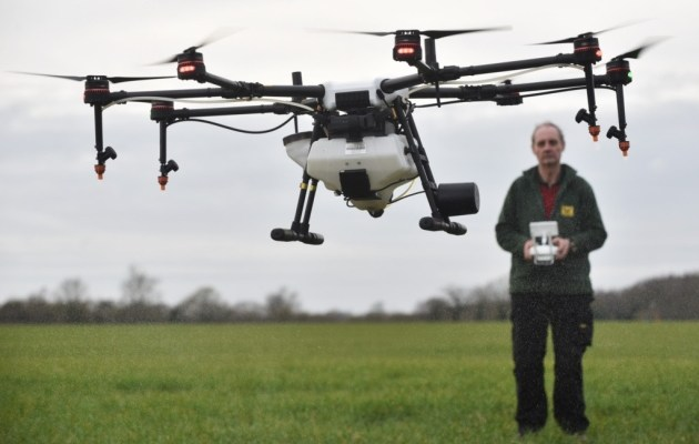 The future of farming: Britain's first crop-spraying drone