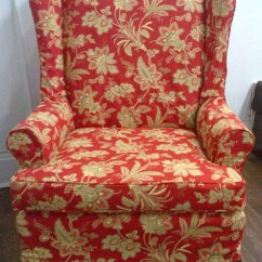 Wing Chair Slipcover Pattern Fold Out Bed Uk Custom Slipcovers | Potato Skins Toronto