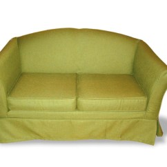 Sofa Covers Toronto Canada Lawson Style Custom Slipcovers Potato Skins Green Self Piping And Pleats
