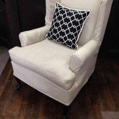 Wing Chair Slipcover Pattern Covers Hampshire Custom Slipcovers | Potato Skins Toronto