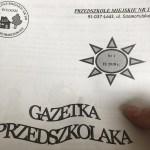 """""""Gazetka Przedszkolaka"""" debiutuje włódzkim Przedszkolu Miejskim nr105"""