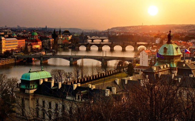 katalog - prague-czech-republic-city-sunset-river-evening-bridge-cityscape-landscape