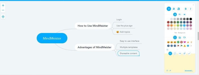 MindMeister dashboard