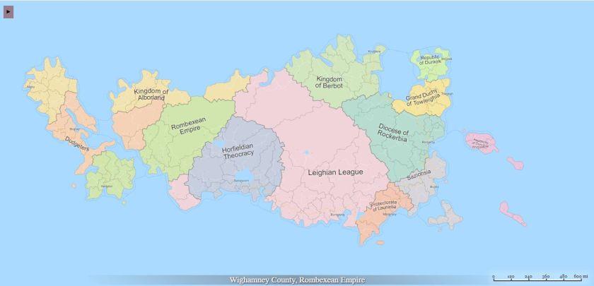 screengrab of Fantasy Map Generator