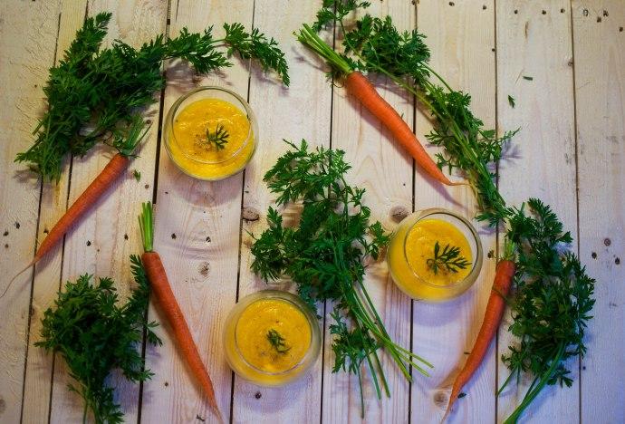 Crème de carottes au curcuma et à l'orange