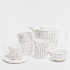 Ensemble porcelaine imprimé géometrique