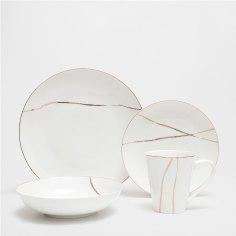 Vaisselle porcelaine filet doré Zara Home