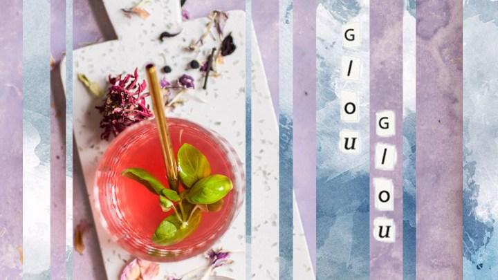 Thé glacé au jasmin, aux fruits rouges et au basilic