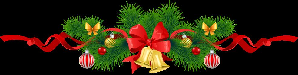 christmas dinner annual potluck garland clipart transparent bells gold pine
