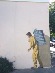 Street art in Palo Alto. Reminds me of Banksy's work