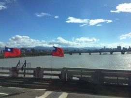Riding the bus back to Taipei from Kaohsiung today -- it's finally cleared up!