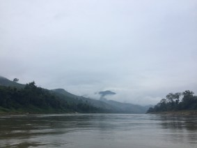 Clouds, mountains, river