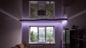 глянцевый двухуровневый натяжной потолок в Кривом роге