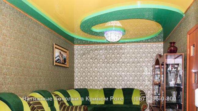 Пленочные глянцевые натяжные потолки Кривой Рог
