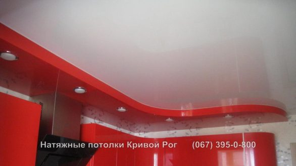 Натяжные потолки кухня Кривой Рог Фото