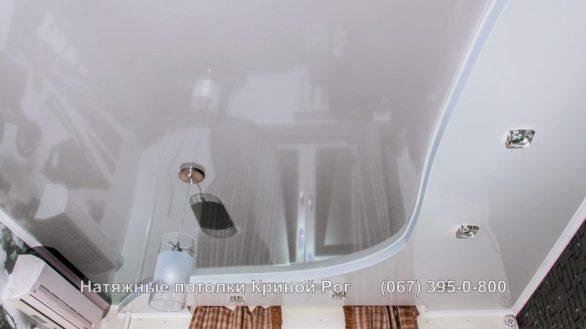 Натяжной потолок спальня фото